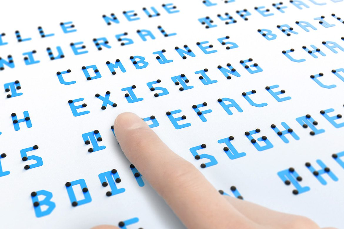 Braille Neue - Typeface that Combines Braille with Latin and Japanese Characters