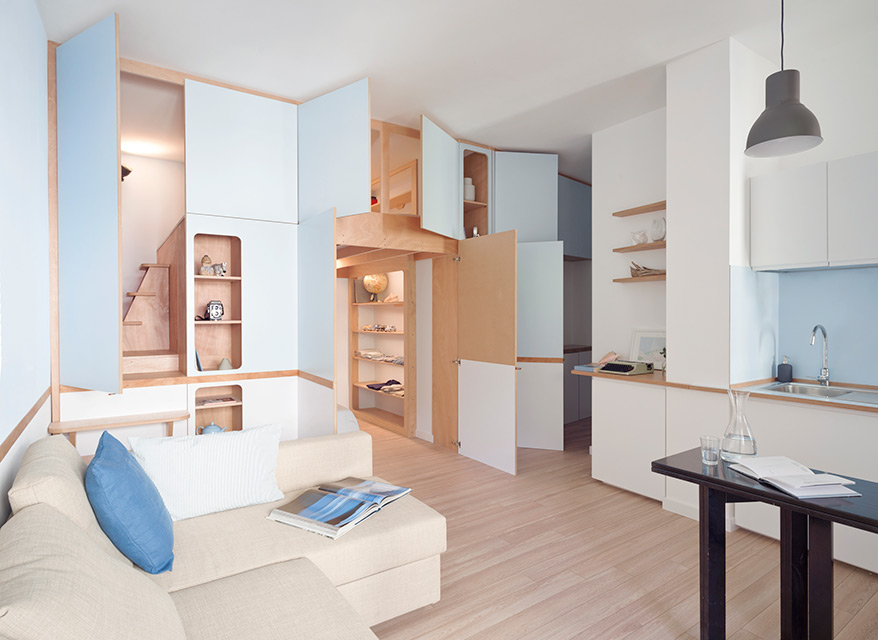 Compact Living:: 35 sqm Apartment in Italy by llabb
