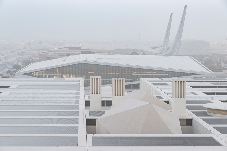 Diamond-Shaped Building of Qatar National Library in Doha by OMA