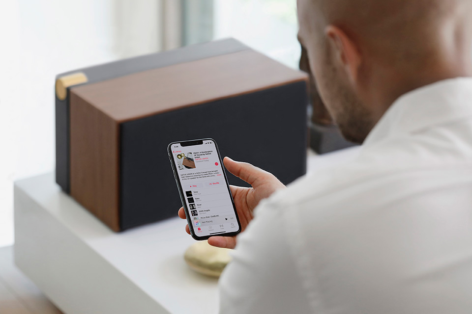NATIVE UNION PR/01 – Home Hi-Fi Speaker Allowing Wireless Charging