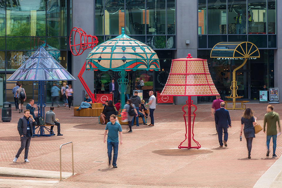 'The Manchester Lamps' Series of Oversized Lamp Installations by Acrylicize