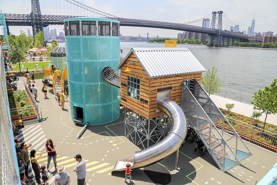 Domino Park Playground in New York City by Mark Reigelman II
