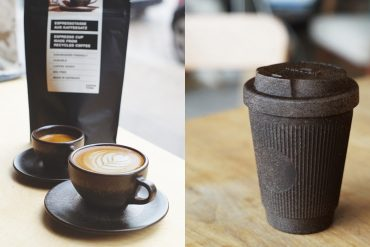 Coffee Cups Made from Used Coffee Grounds by Kaffeeform