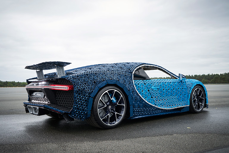 LEGO Built a Drivable Life-Size Copy of the Bugatti Chiron from LEGO Technic Elements
