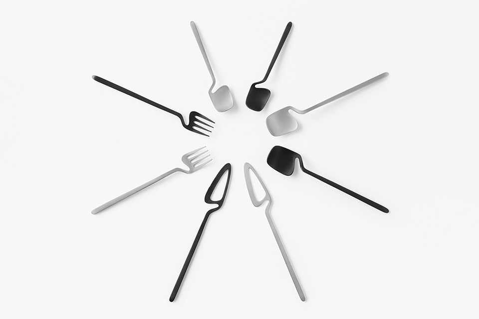 'Skeleton' Cutlery Collection by nendo for Valerie Objects