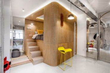 Compact Living:: 48 sqm Apartment with 'Function Boxes' in Shanghai by TOWOdesign