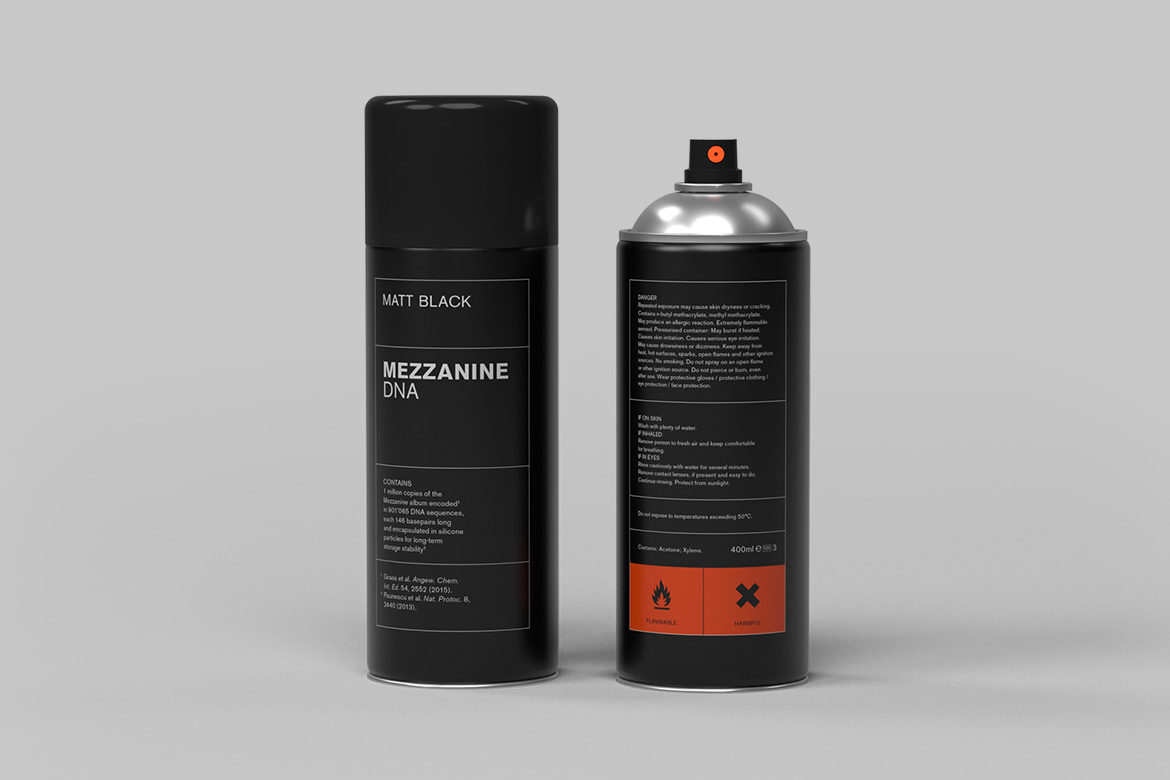 """Massive Attack Reissues """"Mezzanine"""" as DNA-Encoded Spray Paint"""