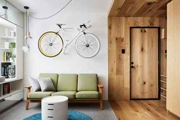 Compact Living:: Tiny Apartment in Melbourne with Moss Wall by tsai design