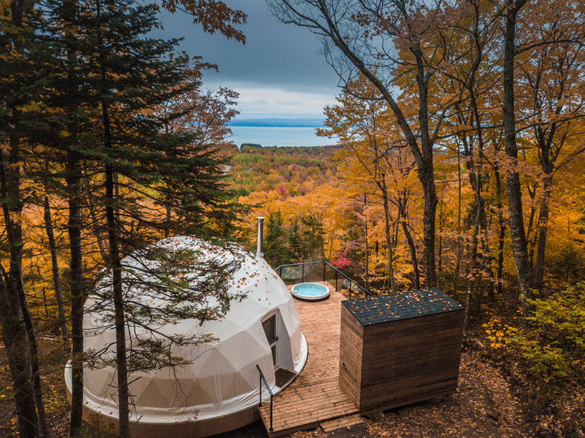 """Dômes Charlevoix"" – Four Seasons Eco-Luxurious Accommodations in Canadian Forest"