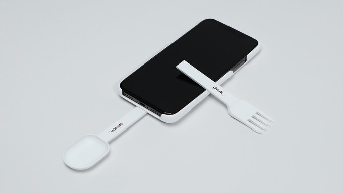 Design Humor: iPhone Case with Built-In Spoon and Fork