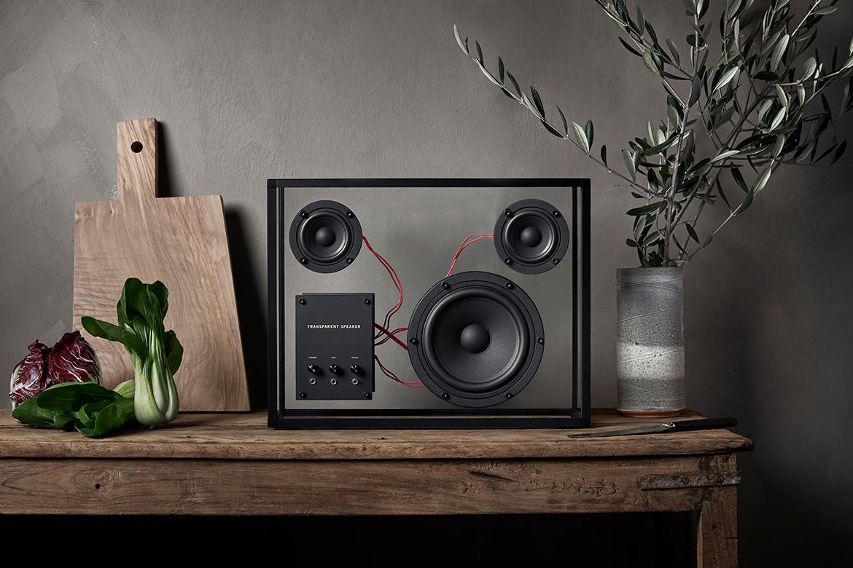 Minimalist Transparent Speakers by Transparent Sound