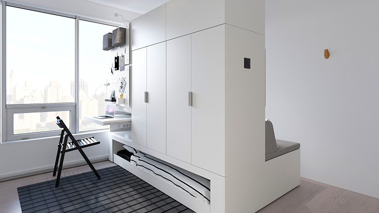 Compact Living:: IKEA and Ori Living Propose Flexible Solution for Tiny Homes