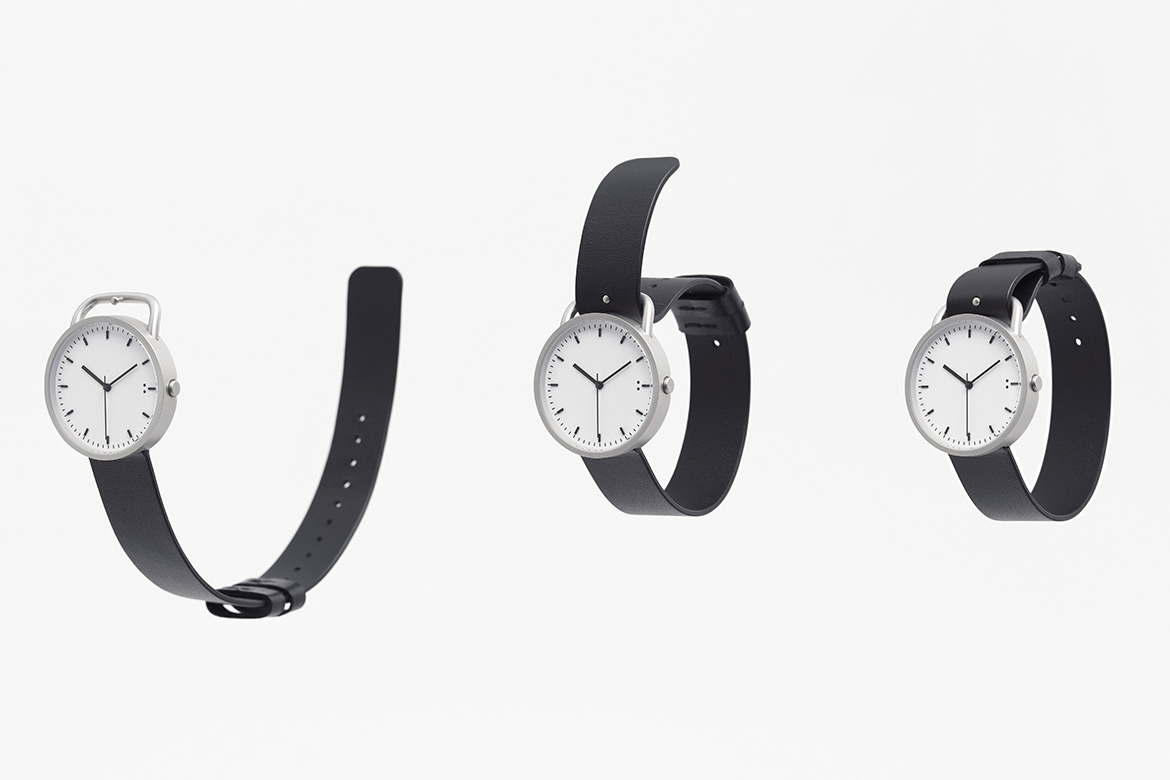 """Nendo Designed """"Buckle"""" Wristwatch Consisted of Only Two Components"""