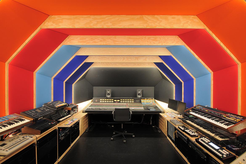 Fairfax Designed Retrofuturistic Recording Studio in Paris for Etienne de Crecy