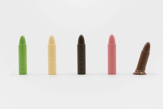 RONG Design Created Set of Edible Crayons for Kids Made Entirely of Chocolate