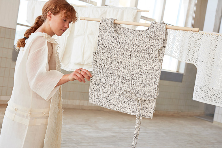 """""""Consumption of Heritage"""" Collection by Lee Sun Gives New Life to Paper Clothing"""