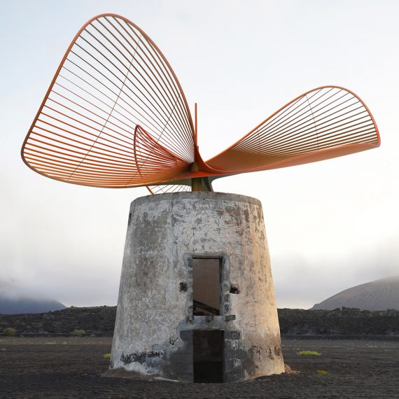 Vincent Leroy Turns Former Windmill on Lanzarote Island Into Elegant Wind Turbine