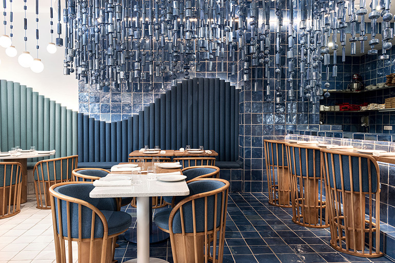 Masquespacio Designs Eclectic Interior for La Sastrería Restaurant in Valencia