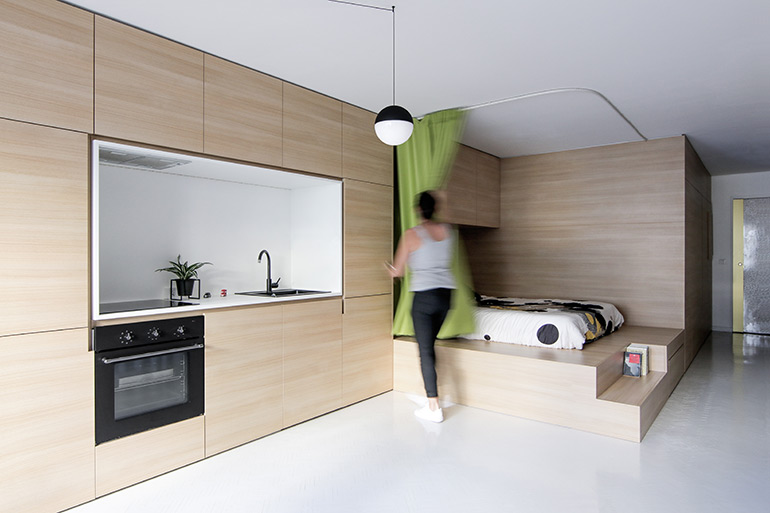 Compact Living:: 40 Sqm Apartment in Paris by ABACO