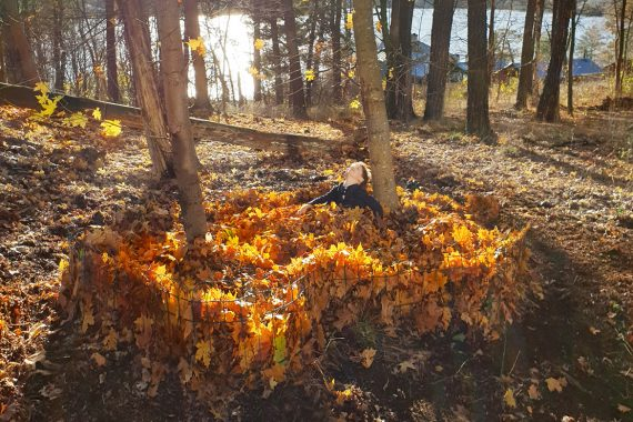 Swedish Architects Created Series of Leaf Pools to Enjoy Autumn Leaves