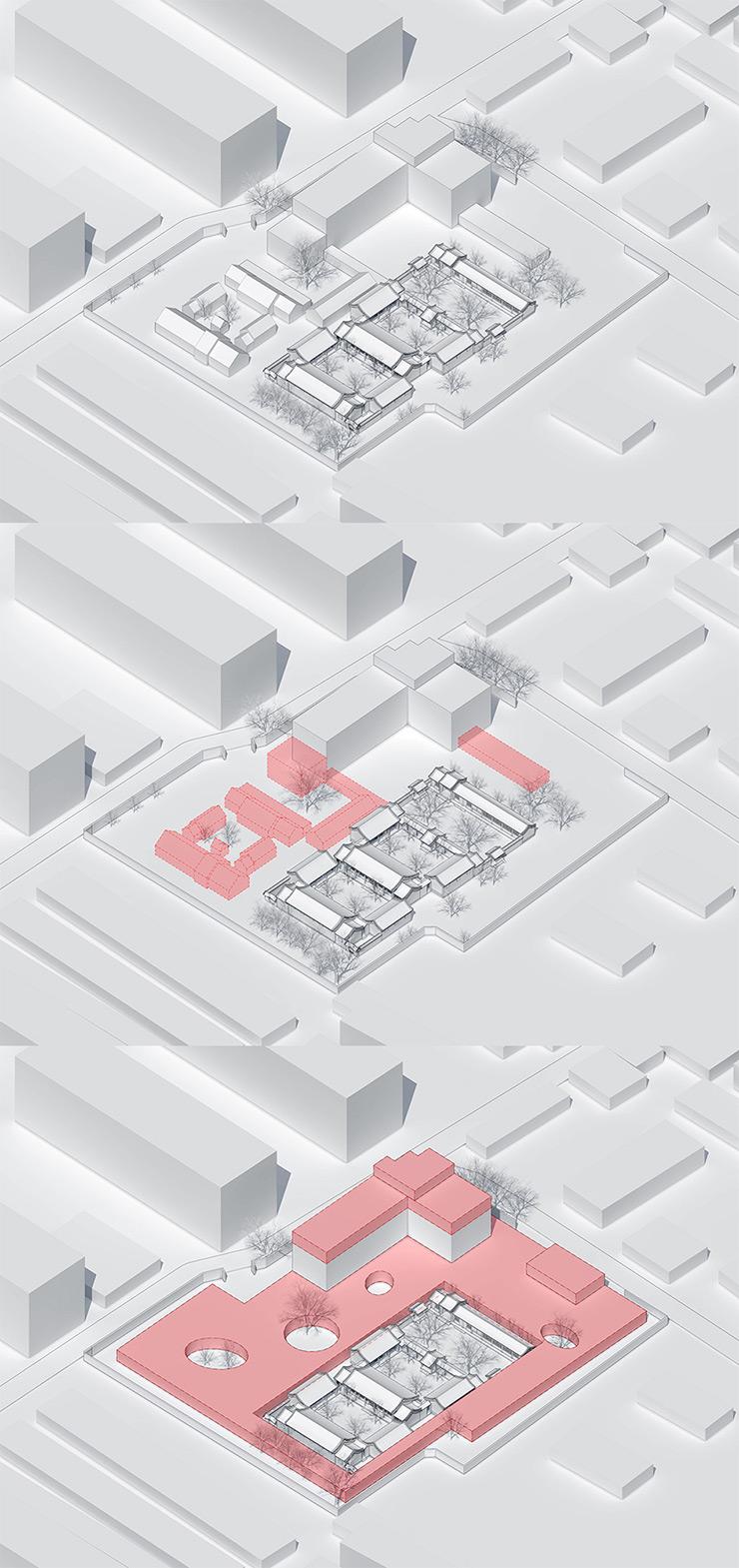 "MAD Architects Designed ""Martian Landscape"" on Roof of Kindergarten in Beijing (Diagram)"