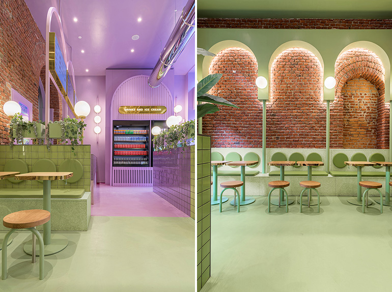 Colorful Hamburger Restaurant in Milan Designed by Masquespacio