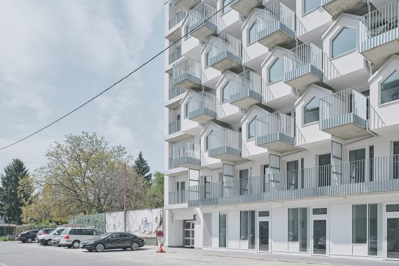 BFA x KLK Designed Residential Building in Vienna in the Form of Stacked Tiny Houses